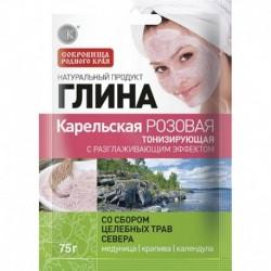 Глина Карельская розовая тонизирующая с разглаживающим эффектом, 75 г