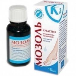 Мозоль Ка средство от мозолей и натоптышей с экстрактом чистотела. 15 мл