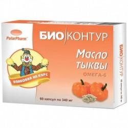 Масло тыквы, 60 капсул по 340 мг