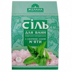 Соль для ванн морская натуральная с эфирным маслом мяты. 500 гр