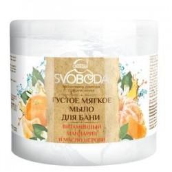 Густое мыло для бани 'Витаминный мандарин и масло нероли', 500 мл