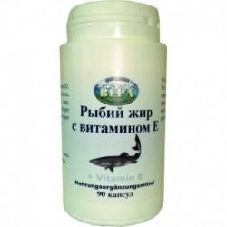 Рыбий жир с витамином E (90 капсул)