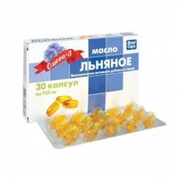 Масло Льняное. 30 капсул по 750 мг