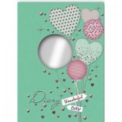 Ежедневник с зеркальцем 'Воздушные шары'