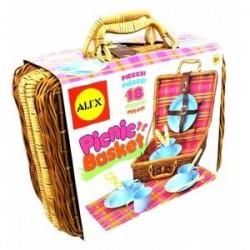 Плетеный чемоданчик для пикника