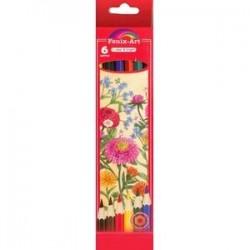 Набор цветных карандашей 'Цветы', 6 штук (40036)