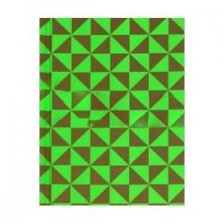 Записная книжка 'Треугольники на зеленом' (80 листов, твердый переплет)