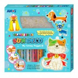Набор для творчества с витражами и витражными красками 'Собаки и кошки' (22937)