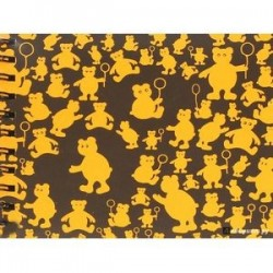 Блокнот 'Оранжевые мишки' (40 листов,145х180) (БЛ-3470)