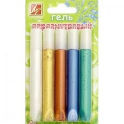 Гель с блестками перламутровый (5 цветов) (21С1389-08)