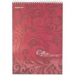 Бизнес-блокнот 'Бордовый', 60 листов на спирали, А4 (732061-54)