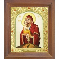 Почаевская икона Божией Матери. 10x12