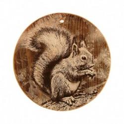 Доска из кедра «Бельчонок», круглая, 18x18 см