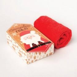 Махровое полотенце 'Счастливого года' 30x30 см, хлопок 340гр/м2