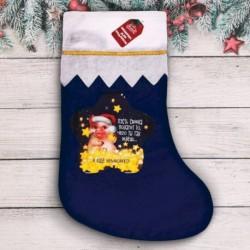 Мешок - носок для подарков 'Желанных подарков!', 36x26,5x0,2 см
