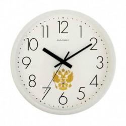 Часы настенные круглые 'Герб России', белые