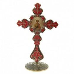 Крест на подставке с иконой 'Великомученик и Целитель Пантелеимон'