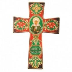 Крест с подвесом 'Икона Матроны Московской'