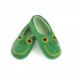 Детские войлочные тапочки Лягушата. Размер 17 см