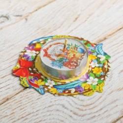 Свеча пасхальная с пожеланием «Пасхальная композиция», 7,5 x 7,5 см