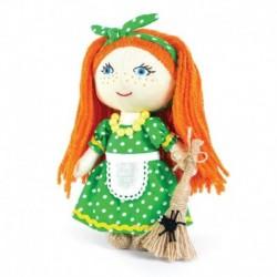 Набор для изготовления игрушки из льна и хлопка с волосами из пряжи 'Хозяюшка', 15,5 см