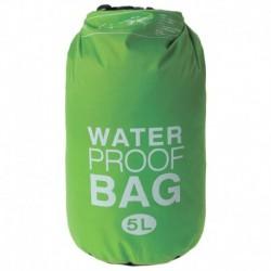 Гермомешок водонепроницаемый 5 литров, плотность 23 мкр, цвет зеленый