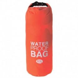 Гермомешок водонепроницаемый 10 литров, плотность 23 мкр, цвет оранжевый