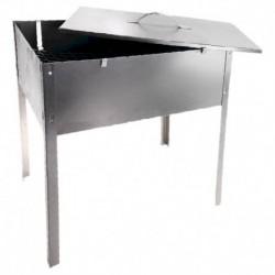 Мангал-коптильня 'Эконом' без шампуров, размер 40x25x40 см