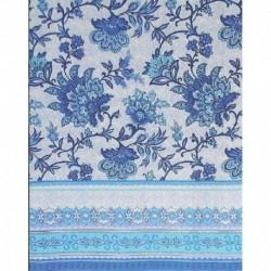 Скатерть 'Голубые узоры' 200x150 см, 100% хлопок