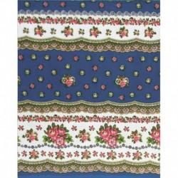 Скатерть 'Русский цветочек' (синяя), 200x150 см, 100% хлопок