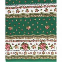 Скатерть 'Русский цветочек' (зеленая), 200x150 см, 100% хлопок