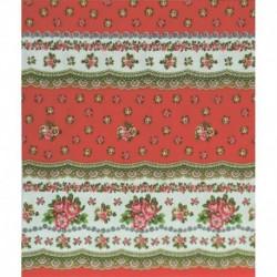 Скатерть 'Русский цветочек' (красная), 200x150 см, 100% хлопок
