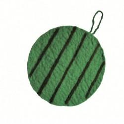 Войлочная подставка под горячее 'Зеленый арбуз'