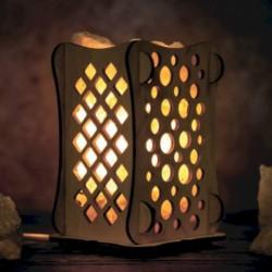 Соляной светильник 'Шарики', 9x14 см, деревянный декор