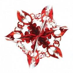 Новогоднее украшение 'Ажурная звезда', 17x17 см (в ассортименте)