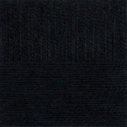 Ангорская тёплая. Цвет 02-Черный. 5x100г