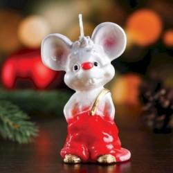 Свеча декоративная 'Мышонок в штанишках', микс, 5,5x5x9 см