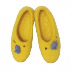 Детские тапочки желтые с Крыской - символом 2020 года. Размер 18