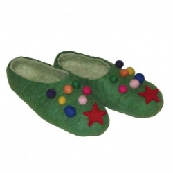 Тапочки зеленые «Новогодние». Размер 37