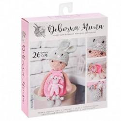 Амигуруми: Мягкая игрушка «Девочка Мила», набор для вязания, 10x4x14 см