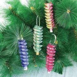 Украшение новогоднее фольга 'Спираль' цвет в ассортименте