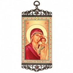 Икона-хоругвия 'Казанская икона Божьей Матери' на подвесе