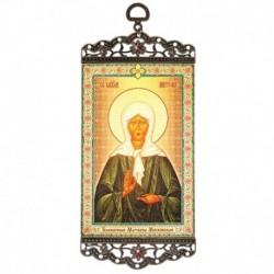Икона-хоругвия 'Блаженная Матрона Московская' на подвесе