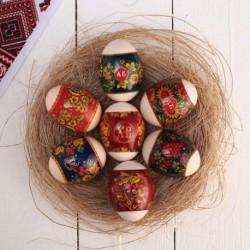 Пасхальная термоусадочная термопленка 'Хохлома' на 7 яиц