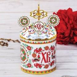 Пасхальный набор для украшения кулича «Борецкая роспись»