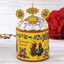 Пасхальный набор для украшения кулича «Городецкая роспись»