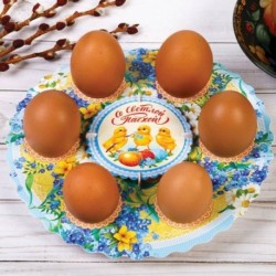 Подставка пасхальная на 6 яиц «Цыплята»