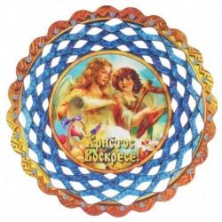 Тарелка конфетница 'Христос Воскресе. Ангелы', 19,5x19,5см