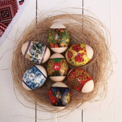 Пасхальная термоусадочная плёнка 'Русские узоры' на 7 яиц