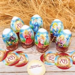 Пасхальный набор для украшения яиц «Христос Воскресе!» (ангелочки)